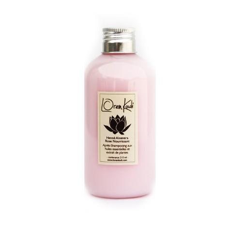 Après-Shampoing Henné Aloe vera Rose - Nourrissant - Cheveux normaux à secs - Loren Kadi