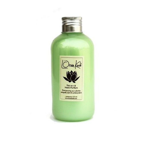 Shampoing Thé vert & Neem Purifiant Antipelliculaire - Loren Kadi
