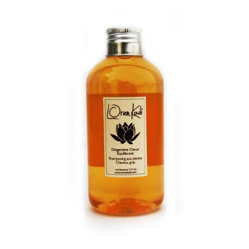 Shampoing Gingembre-Citron Equilibrant - Cheveux tendance grasse - Loren Kadi