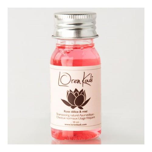 Mini Shampoing Rose délice & miel - Cheveux normaux - Usage fréquent - Loren Kadi