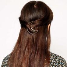 Barrette Epingle à Cheveux Demi Lune