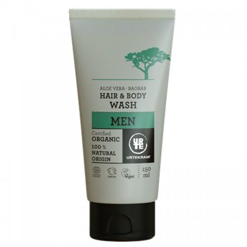 Shampoing Gel Douche Homme à l'Aloé Vera & Baobab - Urtekram