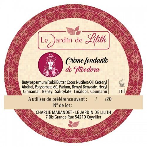 Crème Fondante de Théodora - Le Jardin De Lilith - MA PLANETE BEAUTE