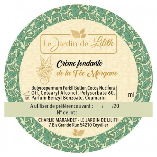 Crème Fondante De La Fée Morgane - Le Jardin De Lilith