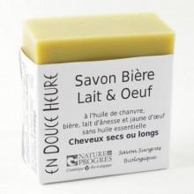 Savon Bio Bière Lait Oeuf Corps et Cheveux - En Douce Heure