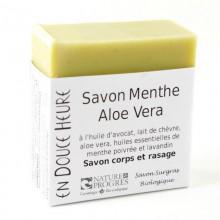 Savon Bio Corps/Rasage Menthe Aloe vera - En Douce Heure