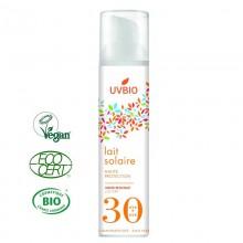 Lait Solaire Bio Indice 30 - UVBIO - MA PLANETE BEAUTE