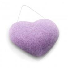 Eponge Konjac Coeur à la Violette DBS - MA PLANETE BEAUTE