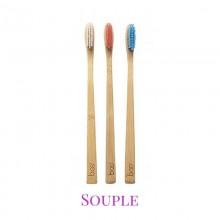 Brosse à Dents Ecologique en Bambou Adulte - Poils Souples - My Boo Company