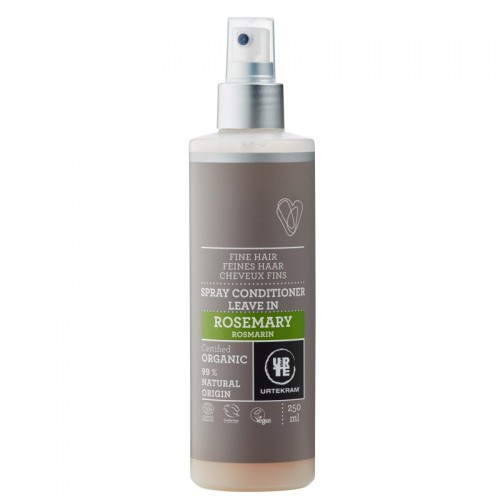 Démêlant Spray Leave-In Romarin (Cheveux Fins) 250ml - Urtekram - MA PLANETE BEAUTE