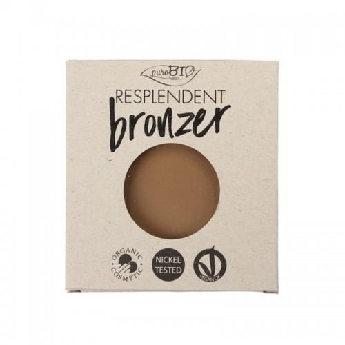 Recharge Poudre Bronzante Resplendent Brun clair 01 - Vegan & Bio - PuroBIO Cosmetics