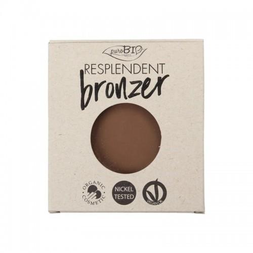 Recharge Poudre Bronzante Resplendent Brun noix 02 - Vegan & Bio - PuroBIO Cosmetics