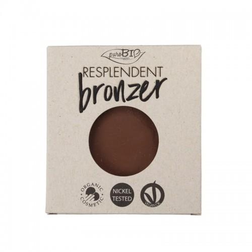 Recharge Poudre Bronzante Resplendent Brun fango 04 - Vegan & Bio - PuroBIO Cosmetics