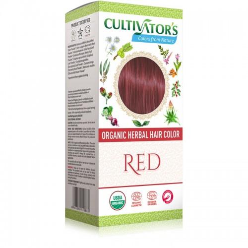 Coloration Végétale Biologique Red - Cultivator's India - MA PLANETE BEAUTE