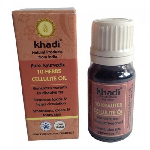 Huile Anti Cellulite Aux 10 Plantes Khadi - Ma Planète Beauté