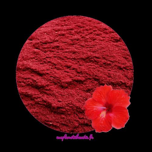 Poudre d'Hibiscus d'Egypte - MA PLANETE BEAUTE
