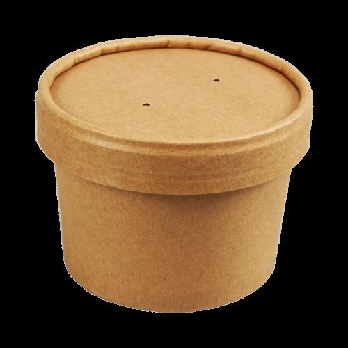 Pot en Carton Kraft - Revêtement PLA Biodégradable - 240 ml - MA PLANETE BEAUTE