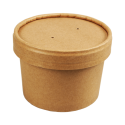 Pot en Carton Kraft - Revêtement PLA Biodégradable - 240 ml