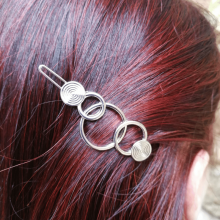 Barrette Multi Ronds et Spirales