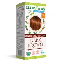 """Coloration Végétale Biologique """"Dark Brown"""" (Marron Foncé Chaud) - Cultivator's Colors From Nature"""