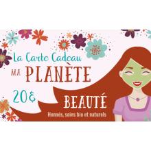 La Carte Cadeau Ma Planète Beauté d'une valeur de 50€