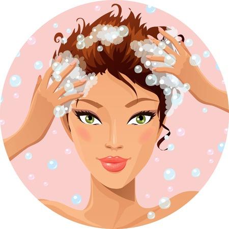 soin lavant des cheveux / Droit d'auteur: <a href='http://fr.123rf.com/profile_deedl'>deedl / 123RF Banque d'images</a>