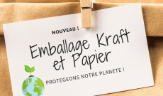 EMBALLAGE ECOLOGIQUE KRAFT 100% BIODEGRADABLE !